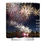 Happy New Year 2016 Shower Curtain
