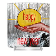 Happy New Year 22 Shower Curtain