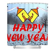 Happy New Year 24 Shower Curtain