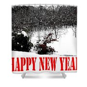 Happy New Year 34 Shower Curtain