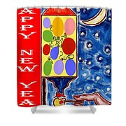 Happy New Year 47 Shower Curtain