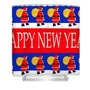 Happy New Year 7 Shower Curtain