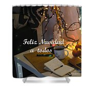 Happy New Year Holidays Shower Curtain
