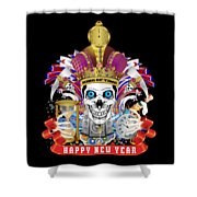 Happy New Year King Of Time Shower Curtain