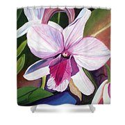 Happy Orchid Shower Curtain
