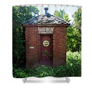 Happy Outhouse Shower Curtain