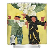 Happy People Shower Curtain by Katie OBrien - Printscapes