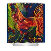 Happy Rooster Family Shower Curtain