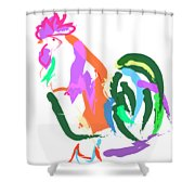 Happy Rooster Shower Curtain