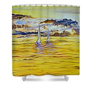 Happy Sailing Shower Curtain