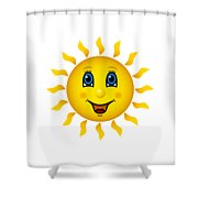 Happy Smiling Sun Shower Curtain
