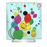 Happy Spring Image Shower Curtain