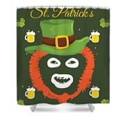 Happy St Patrick's Dave League Of Gentlemen Inspired Papa Lazarou  Shower Curtain