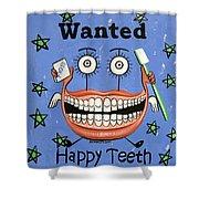 Happy Teeth Shower Curtain