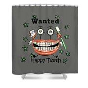 Happy Teeth T-shirt Shower Curtain