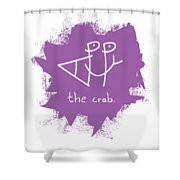 Happy The Crab - Purple Shower Curtain