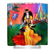Happy To Dance. Ameynra And Mother-queen Shower Curtain