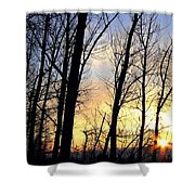 Happy Trails Sunset Shower Curtain