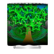 Happy Tree Shower Curtain