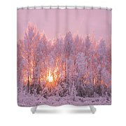 Happy Trees Shower Curtain