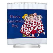 Happy Valentine Day Shower Curtain