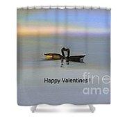 Happy Valentines Shower Curtain
