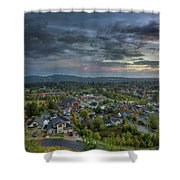 Happy Valley Residential Neighborhood During Sunset Shower Curtain