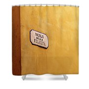 Happyness Alley Shower Curtain