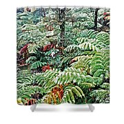 Hapu'u Fern Rainforest Shower Curtain