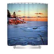 Harakka Island Sunset Shower Curtain