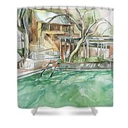 Harbin Hotsprings Pool Shower Curtain