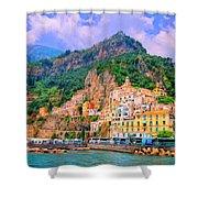 Harbor At Amalfi Shower Curtain