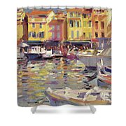 Harbor At Cassis Shower Curtain