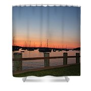 Harbor At Dusk Shower Curtain