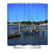Harbor At Mcclellanville, Sc Shower Curtain
