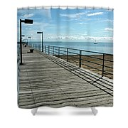 Harbor Beach Lake Huron Michigan Shower Curtain