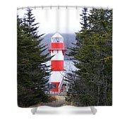 Harbor Breton Lighthouse Shower Curtain