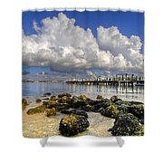 Harbor Clouds At Boynton Beach Inlet Shower Curtain