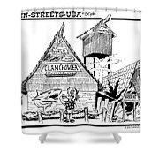 Harbor Hut Shower Curtain
