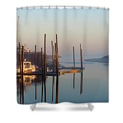 Harbor In Fog Shower Curtain