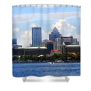 Harbor Island Florida Shower Curtain