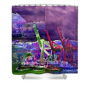 Harbor Island Workhorses Shower Curtain