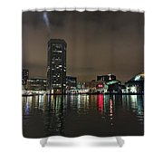 Harbor Lights In Baltimore Shower Curtain