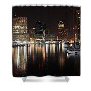 Harbor Nights - Baltimore Skyline Shower Curtain