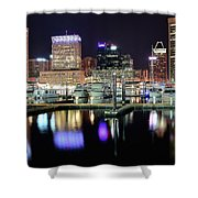 Harbor Nights In Baltimore Shower Curtain