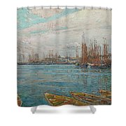 Harbor Of A Thousand Masts Shower Curtain