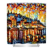 Harbor Of Corsica Shower Curtain