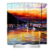 Harbor Of Messina - Sicily Shower Curtain