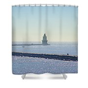 Harbor Of Refuge Lighthouse  Lewes Delaware Shower Curtain