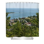 Harbor Opening Shower Curtain